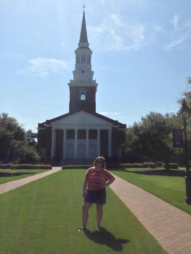 Me in front of Binkley Chapel, my first weekend at SEBTS