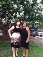 Mama and I at Landra's wedding this summer.