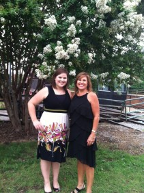 Mama and I at Landra's wedding this summer.