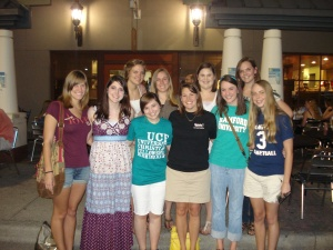 Our first Bible Study dinner at the end of freshmen year.