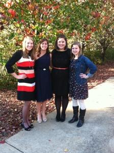 Rachel, Cara, Me, Bethany.
