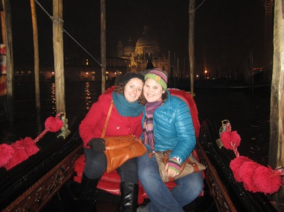 Jackie and I in Gondola in Venice last January.