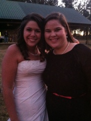 Sarah and I at her wedding.