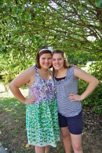 Rachel and I before her sister's prom last year.