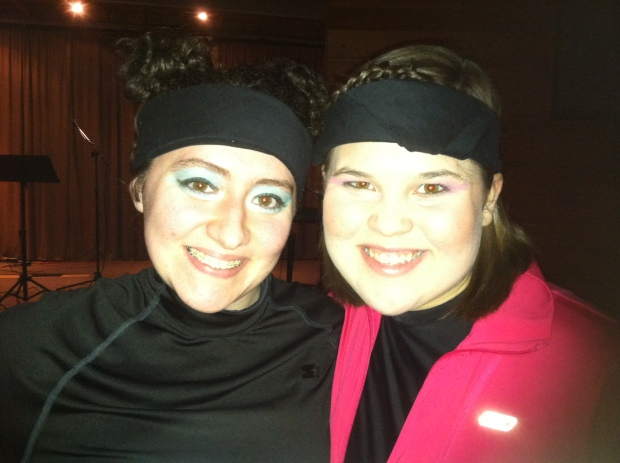 Rachel and I during Step Sing 2012.