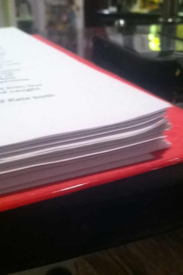 There it is. My first full rough draft. All 94 pages.