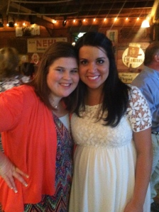 Lindsey and I at the rehearsal dinner.