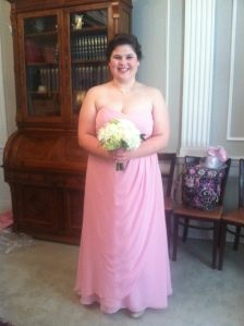 Me in my bridesmaids dress.