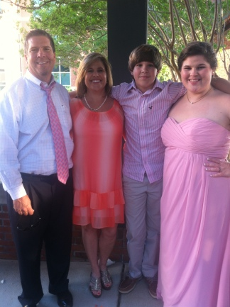 Daddy, Mama, and John at Lindsey's wedding