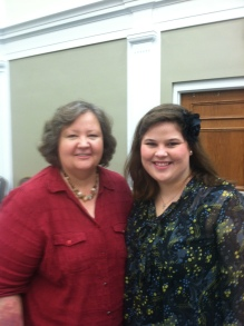 Dr. Tew and I at the last CWLC Lunch