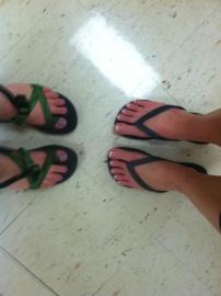 Freshly Painted Toes