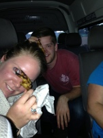 Katie and Caleb with the Chicken Feet