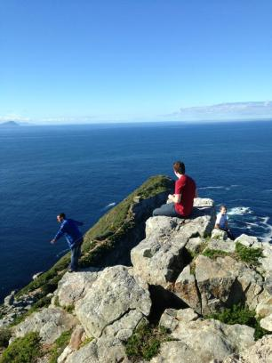 Frankie, Caleb and Tori in Cape Point
