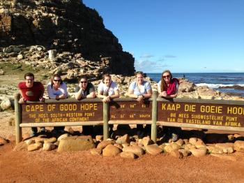 All of us minus Carder at the Cape of Good Hope