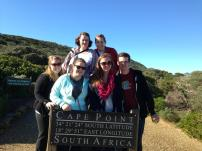 All of us hiking up to the Lighthouse at Cape Point