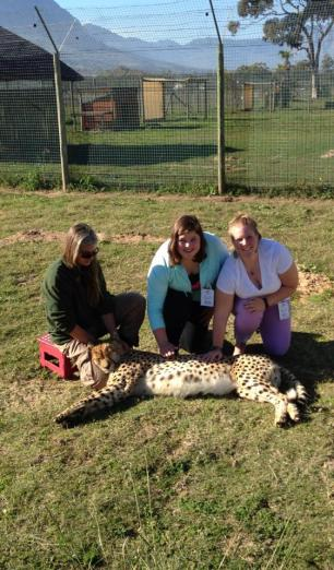 Katie and I with the Cheetah