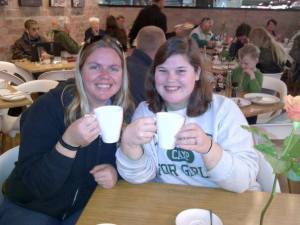 Karen and I getting coffee :)