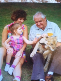 Mama and I with a big cat at Chehaw