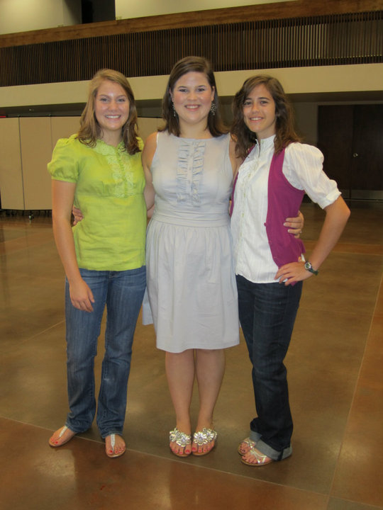 Rachel, Cara, and I at Love Story (August 2010)