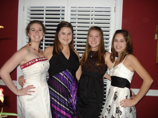 Anna, me, Rachel, and Cara the night we came up and planned Love Story